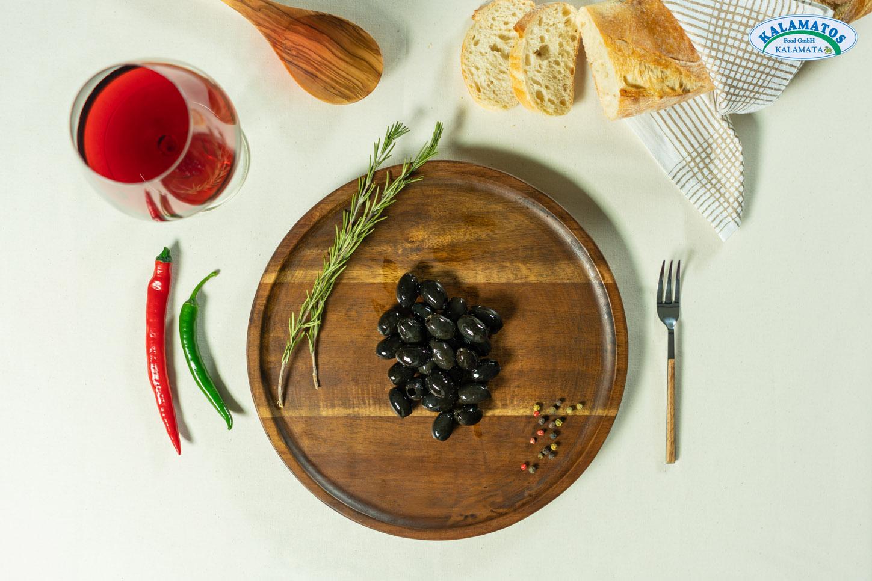 Schwarze Oliven ohne Kern